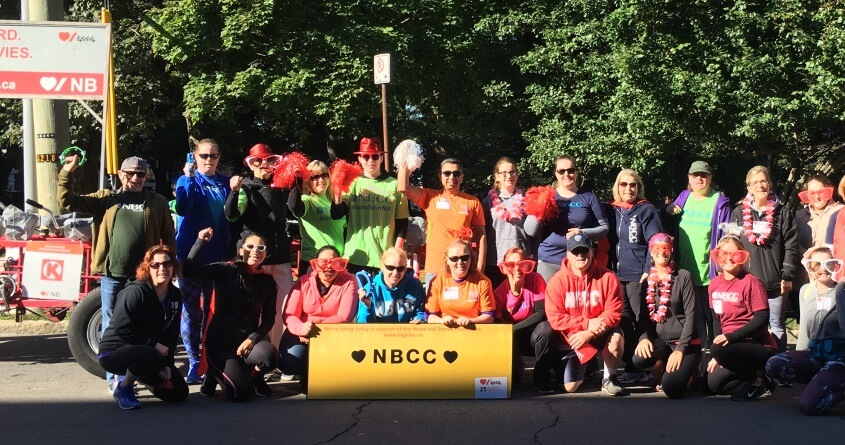 Staff, students, family and friends of NBCC rode the Big Bike around uptown Saint John, raising more than $3,000 in support of the New Brunswick Heart & Stroke Foundation