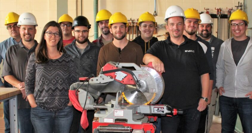 NBCC carpentry students